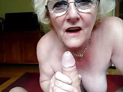 Claire Knight slurping huge load of cum