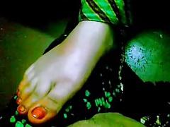 Footjob by Paki girl