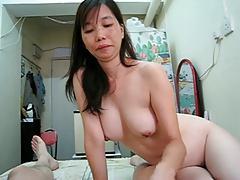 Sucking chinese short dick