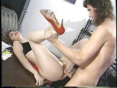 Tiffany mynx in red high heels vintage