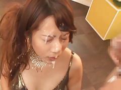 Bukkake Girl From Japan, Rino Loves Sperm