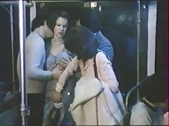 Foursome in metro - Brigitte Lahaie - 1977