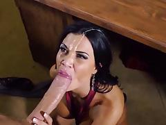 Gorgeous Jasmine Jae takes monster facial cum load