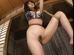 Play with a tied Japanese woman