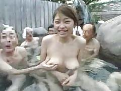 Old Men + Pretty Young Girl - Japanese Hot Spring