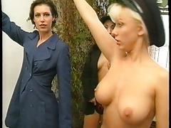 Karen White flaunts her breasts