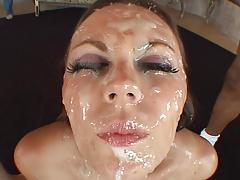 face frosted with cum