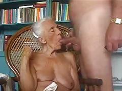 Old grandma eating my cock. Amateur older