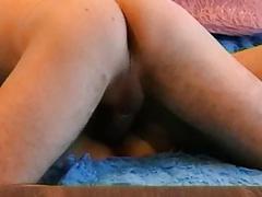Older mistress spreading  legs wide
