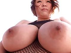Cute japanese girl with big tits