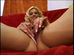 Blonde chick in boots rides a hard cock