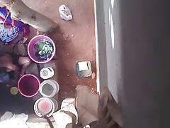 Kannada neighbour aunty bathing