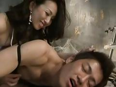 Japanese Mistress Nipple stimulation and Strapon