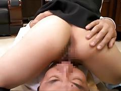 the maid sits on his face