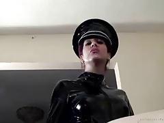 strap on latex mistress smoking