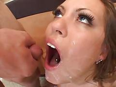 Girl Swallows Many Loads