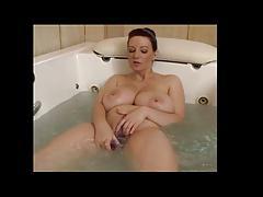 Busty Vanessa Dildoing in Bath BVR