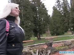 HornyAgent Sexy Blonde fucked in public toilets for cash