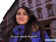 HornyAgent British Brunette Jess fucks a big cock in her ho