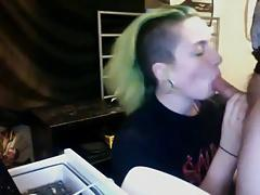 Punk Teen Sucking Cock