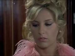 Anna Maria Rizzole seducing in train in an italian movie