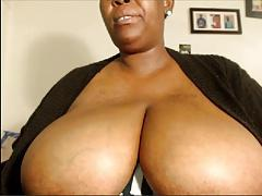Woman with big boobs shows her also big underware