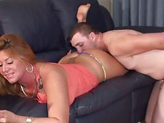 Stepmothers relaxing ass cleanse from cuck