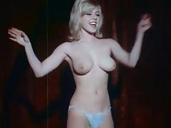 Vintage - Blonde in Blue Lingerie Dances