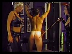 Mistress roughing up her males sex slave