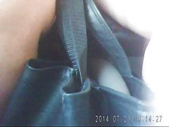 Upskirt! Mature legs in bus! Russian Amateur!