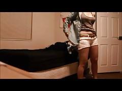 Blonde milf on real hidden cam