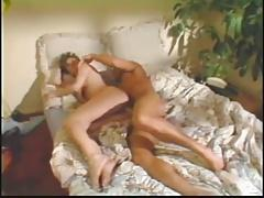 Old Skool with hairy bush fucked on bed