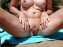 pussy show on the beach