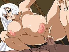 Hentai -White Haired Cowgirl-