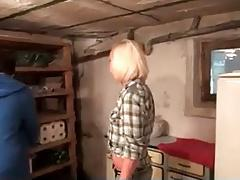 Mom and NOT HEr Son Fucking In The Garage