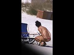spy spanish sexy beach ass 60