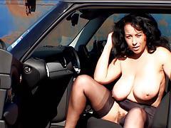 Donna Ambrose AKA Danica Collins - Car tease