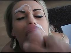 blonde girl facial