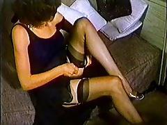 ONE NIGHT - vintage nylons stockings striptease