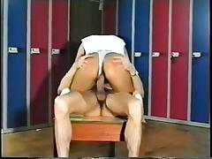 SH Retro Hairy Girl Fucked In Locker Room