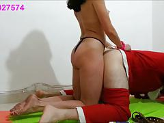 Sharon From Tel-Aviv Fucks Santa Claus Hard In The Ass