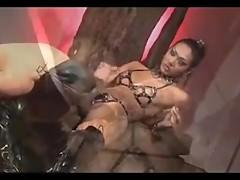 Cigar smoking Asian Shemale Dominates Dude