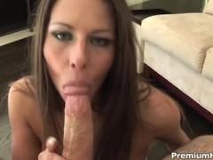 Rachel Roxxx swallows big one