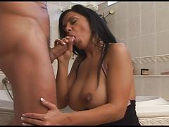 Hot czech brunette Cory Everson fucked in bathroom