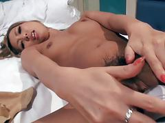 Japanese blonde girl blowjob in hotel room