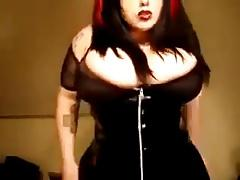 Gothic beauty with gigantic tits