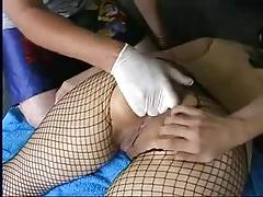 woman trys anal fisting