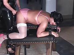 Blonde mistress fucks slave 2 of 2