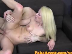 FakeAgent Blonde MILF takes anal in Casting interview