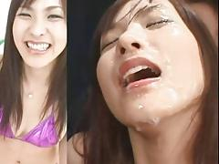 Cute Ayukawa Nao - Split Screen Bukkake